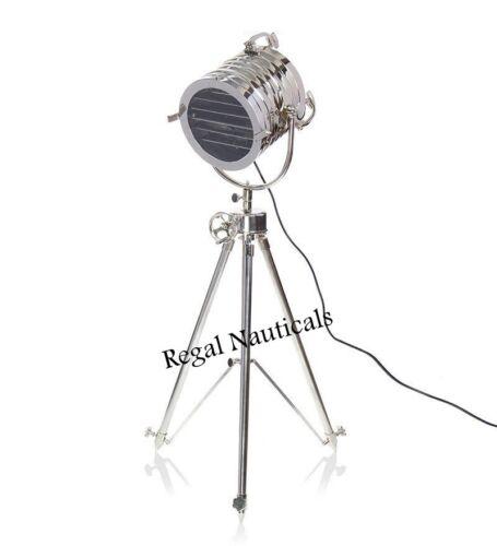 Retro Designer Search Light Floor Lamp Spot Light With Steel Tripod Stand Decor