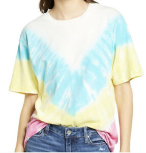 Daydreamer-Neon-Carnival-Weekend-T-Shirt-Size-XS-Tie-Dye-Short-Sleeves-Boho