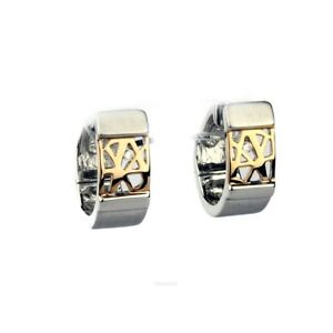 Ladies-Earrings-from-925-Sterling-Silver-with-Zirconia-Bicolour-420369Damen