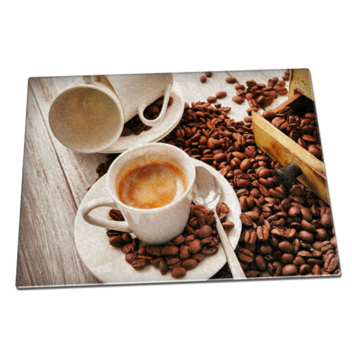 Coffee beans cup Glass Chopping Board 018 hot drinks cafe barista caffeine
