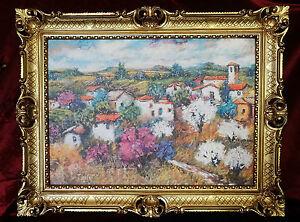 MARCO-CUADRO-CON-MARCO-ANTIGUO-Barroco-ROCOCO-landschaftsbilder-90x70-cm