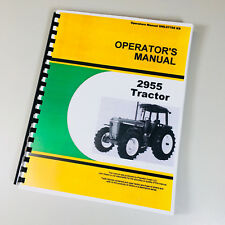 Operators Manual For John Deere 2955 Tractor Owners Maintenance Controls Book