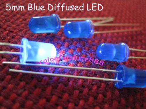 5mm Blue Diffused Round LED Bright Leds Blue Lens Light Free Shipping 1000pcs