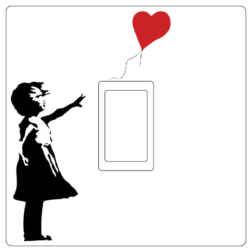 Banksy Girl with Red Heart Balloon Grafit Light Switch Sticker vinyl cover decal