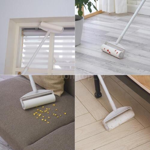 Floor Furniture Sticky Lint Mop Fluff Roller Pet Dog Cat Hair Remover Dust U9G2