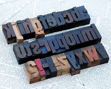 a-z Holzbuchstaben 45mm Plakatlettern Buchstaben Stoffdruck Stempelalphabet