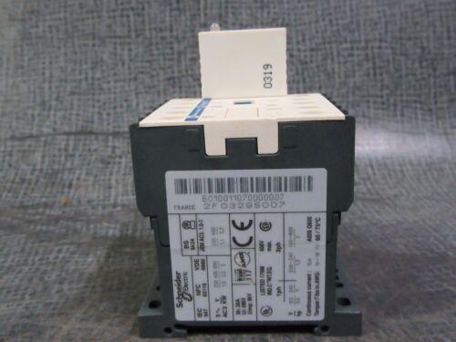 SQUARE D TELEMECANIQUE CONTACTOR 15 AMP 600V 110V COIL /& LA4KE1FC # LC1K0601F7