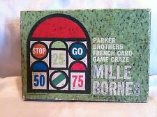 Vintage 1962 Mille Bornes French Card Game Parker Brothers Tray Rules Cards