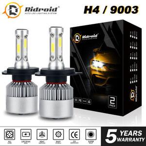 H4 LED Headlight Bulbs Conversion Kit CREE 1900W 285000LM 6000K Hi/Lo Dual Beam