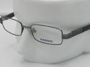 b5b8a288684 Image is loading New-FOSSIL-CHASE-JCG-silver-metal-eyeglasses-51-