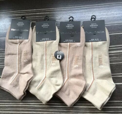 Calzini//Business//senza elastico//4 paia//Tg 43//46vca 80/% Cotton//tonalità di beige