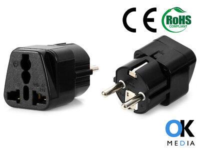 3 X Uk To Eu Schuko High Quality Travel Adaptor Power Plug Adapter 13 Amp