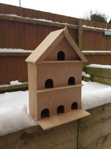Three Storey Bird House//Nesting Box Handmade made from recycled Wood