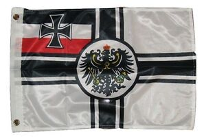 12x18 12''x18'' German Germany Imperial WWII Knitted Flag Banner grommets