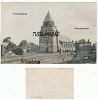 Zerstörte Stadt alte Kirche Häuser siehe Postkarte Frankreich  1 WK