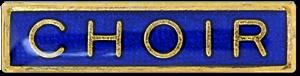 Choir Bar Pin Badge in Blue Enamel