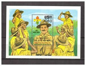 S14386) Ghana 1984 MNH Scout S/S Overprinted