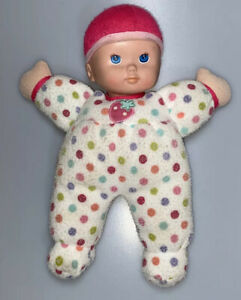 Circo-Baby-Doll-Plush-Stuffed-Lovey-Target-Pink-Polka-Dot-Hat-12-Strawberry