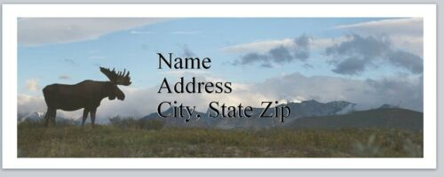 Personalized Address Labels Country Moose Buy 3 get 1 free bx 687