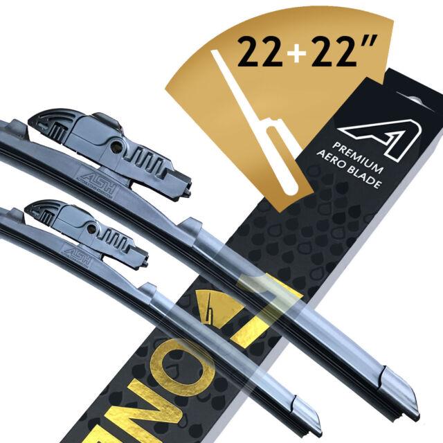 """Premium ASH Wiper Blades Fits 22"""" & 22"""" Fiat Ducato 230L Box 2.5 TDI"""