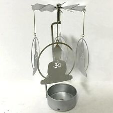 NEW METAL ZEN BUDDHA TEA LIGHT POWERED CAROUSEL SPINNING CANDLE HOLDER SPIN22