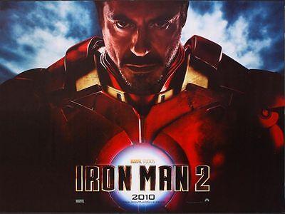 Iron Man 2 2010 Orig 40x30 British Quad D S Movie Poster Robert Downey Jr Ebay
