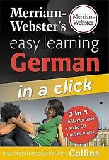 Merriam-Webster's Easy Learning German in a Click [With CD  Audio ]   0877795606