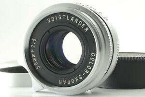 TOP-MINT-w-Hood-Voigtlander-Color-Skopar-50mm-f-2-5-For-Leica-L39-From-Japan