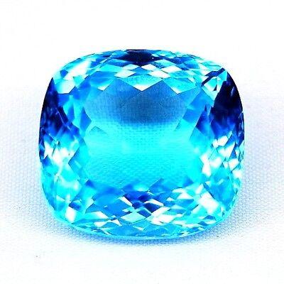 Das Beste Top Color Big Topaz : 52,64 Ct Natürlicher Swiss Blau Topas Aus Brasilien