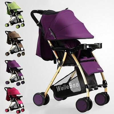 Infant Kids Pushchair Travel System Buggy Pram 4 Wheel Stroller Sunshade Trolley