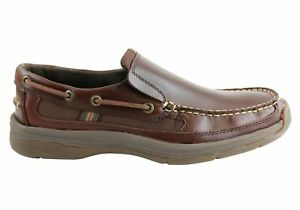 Brand-New-Slatters-Spencer-Mens-Comfortable-Casual-Slip-On-Leather-Shoes