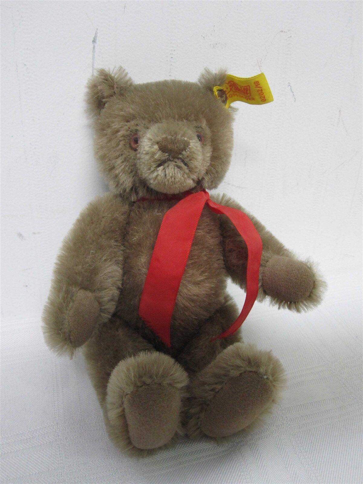 VINTAGE STEIFF MOHAIR LIGHT braun TEDDY BEAR 0202/18  7 1/2