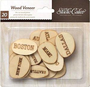 Details About Studio Calico U S Cities 2o Wood Veneer Pieces Scrapbooking