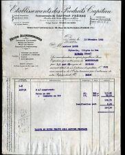 """PARIS (IX°) USINE de THONON-les-BAINS 74 / PATES ALIMENTAIRES """"CAPITAN"""" en 1923"""