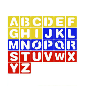 20Pcs Letter Stencils for Painting on Wood Alphabet Stencils Template Art Craft