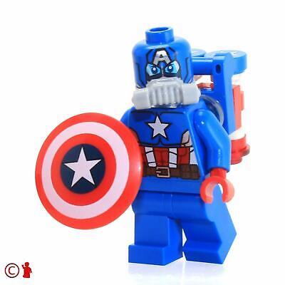 LEGO MARVEL SUPER HEROES SPACE CAPTAIN AMERICA MINIFIGURE SPLIT FROM SET 76049