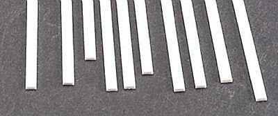 10 90743 Plastruct Rectangle Strip Polystyrene .040x.060x10