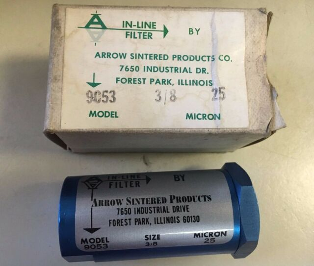 Arrow Sintered Products In-Line Filter 3//8 Model #9053