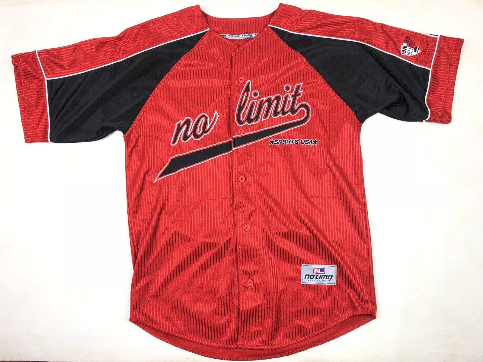 VTG 90s No Limit Records Soldiers Baseball Jersey Rap Hip Hop T Shirt Master P
