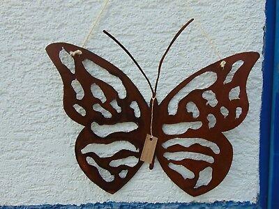 Edelrost Schmetterling groß Hänger Metall Schild Gartendeko Rost Deko
