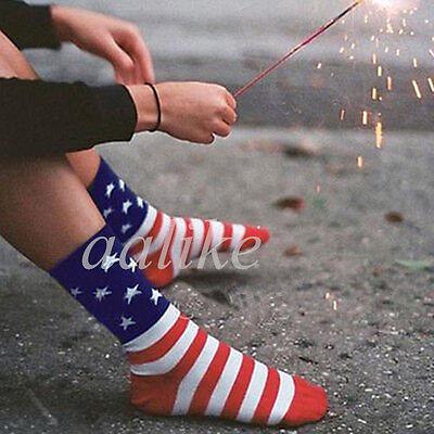 Men Women Unisex Casual Crew Ankle American USA Star Flag Stripes Glory Socks