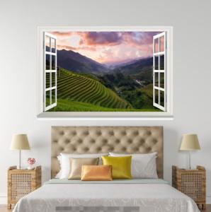 3D Terraced Fields 0014 Open Windows WallPaper Murals Wall Print AJ Carly