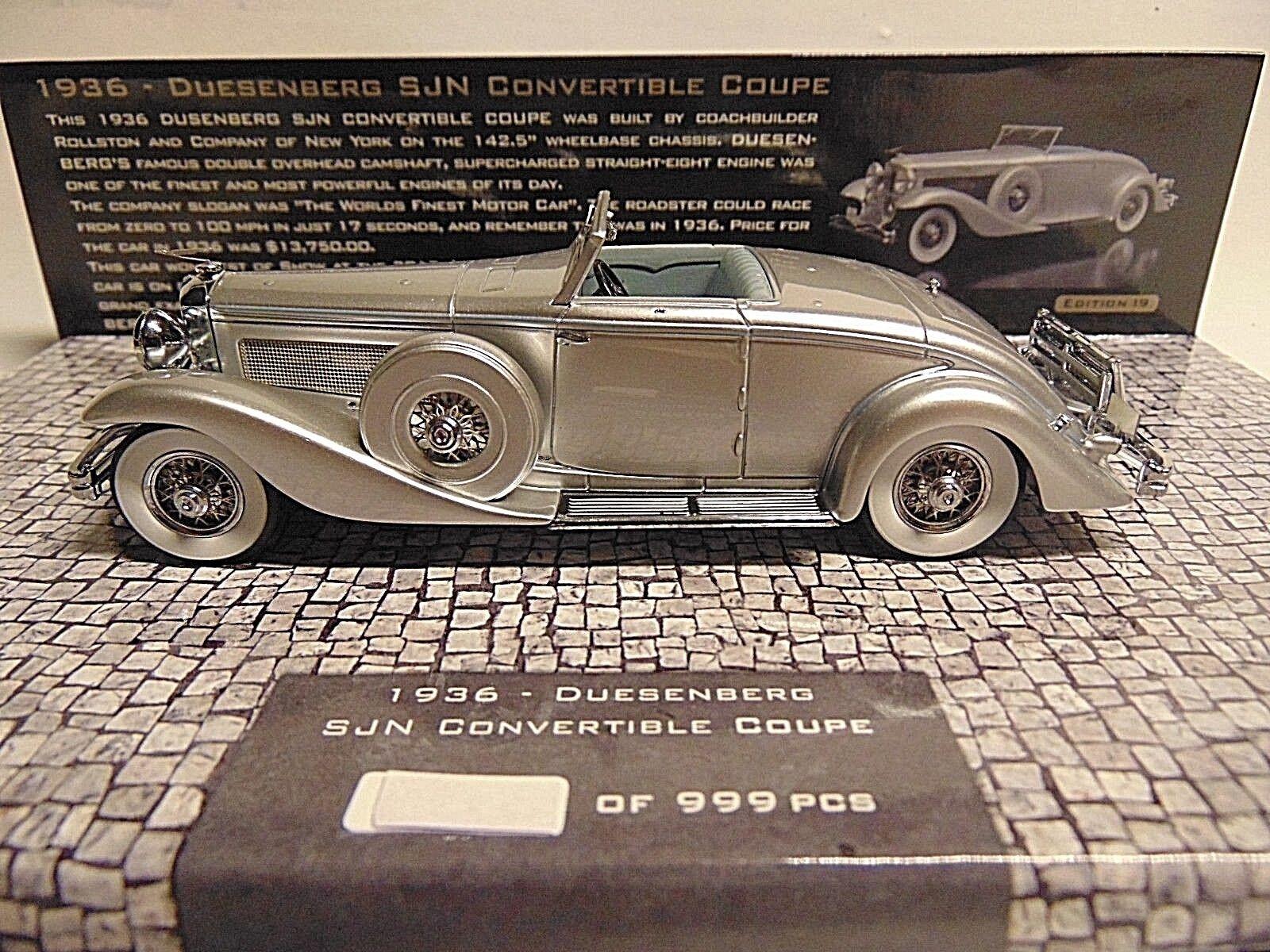 Duesenberg  Sjn Torpedo Convertible Coupe 1936  1 43 Minichamps 437150330  édition limitée chaude