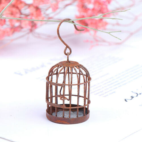 1:12 Dollhouse accessories miniature metal bird cage doll house ornam JGBLUS