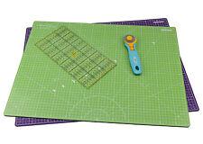 Lialina® / A2 Schneidematte 60 x 45 cm+ Patchwork Lineal 15 x 30 cm + Rollsch...