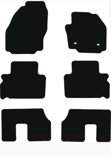2006-2015 Fully Tailored Black 3mm Rubber Car Floor Mats 7 Seater Ford Galaxy