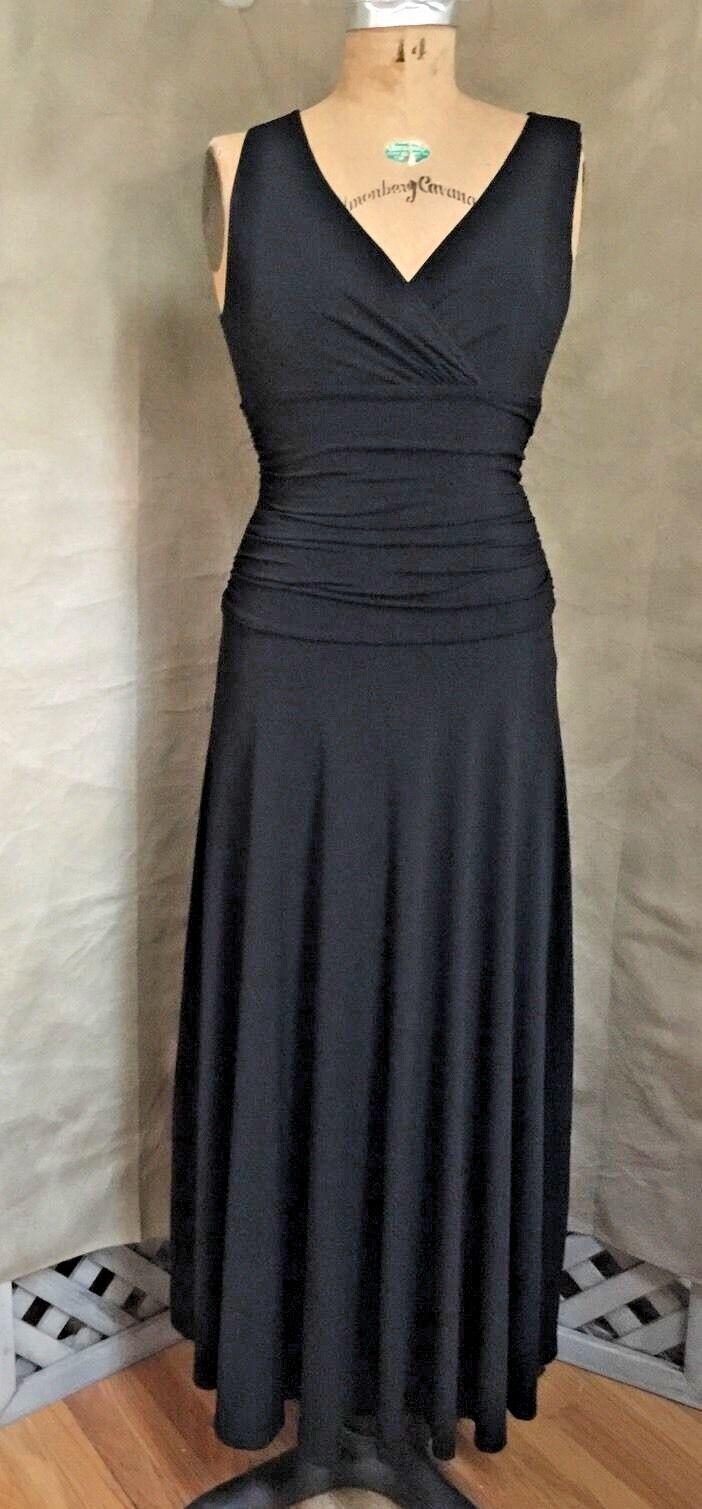 Jet schwarz SHAPER SLIMMING MAXI DRESS S Stretch Knit Full-Length Gown SHAPE FX