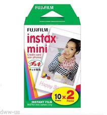 20 Fujifilm Fuji Instax Mini Film White Sheet for 7s 8 10 25 50s 50i SP1 sheets