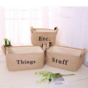 Image Is Loading Jute TOYS Storage Bin Storage Baskets For Organizing