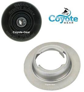 3 Pack Lot Aluminum Weld On Filler Necks /& Vented Motorad Caps Coyote Gear